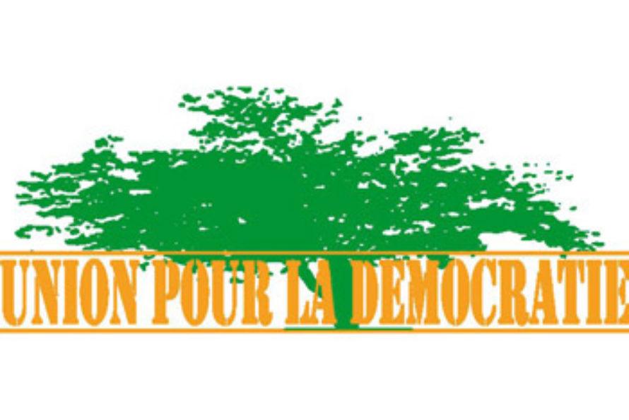 COMMUNIQUÉ de UNION pour la DEMOCRATIE