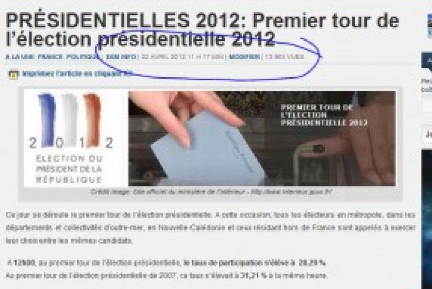 France-Election: audience inédite pour les sites francophones étrangers, dont belges