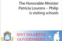 Sint Maarten : Minister of Education Hon. Patricia Lourens-Philip is visiting schools
