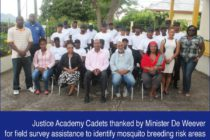 Sint Maarten. Justice Academy Cadets thanked by Minister De Weever