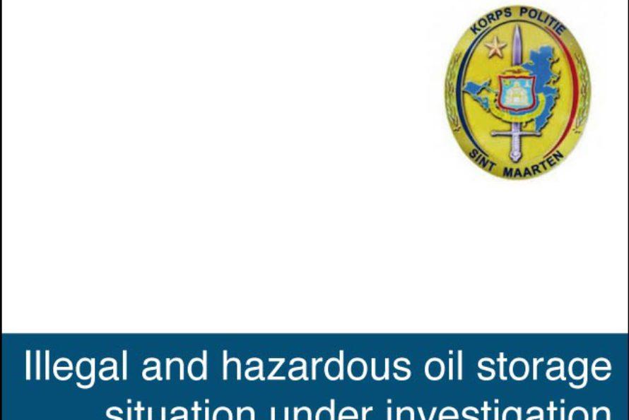 Sint Maarten. Police investigates illegal oil storage in Sucker garden