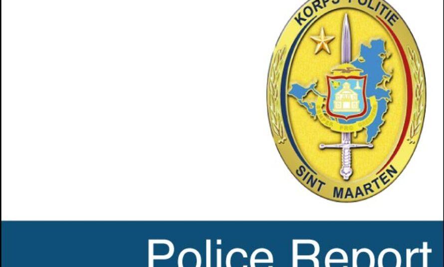 Sint Maarten Police Report