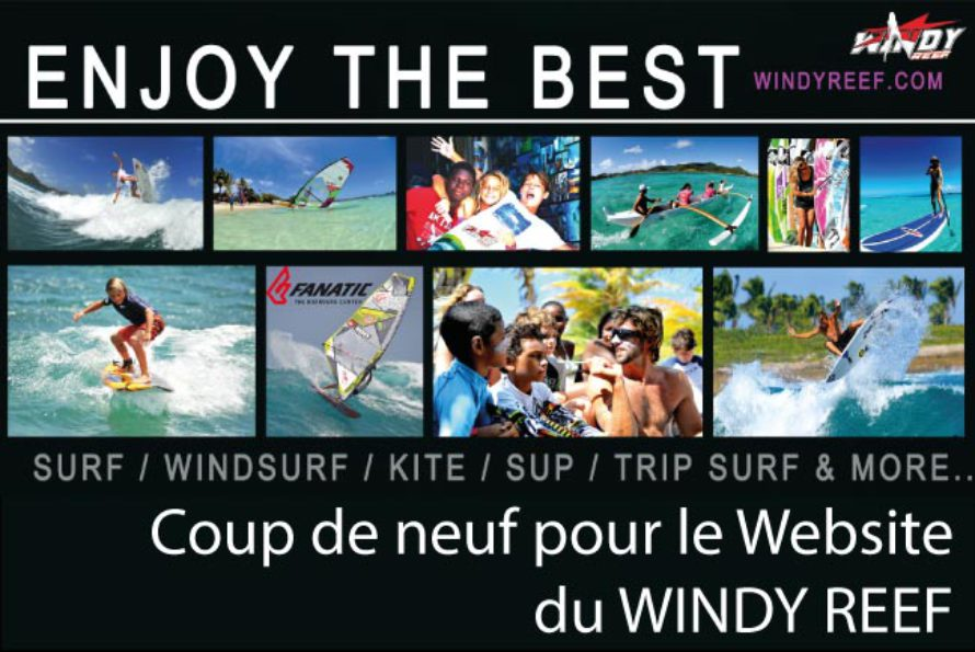 Surf. Windy Reef : relooking du website