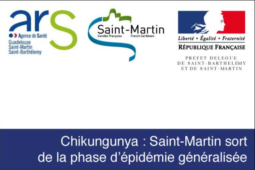 Chikungunya. Saint-Martin sort de la phase d'épidémie généralisée