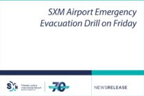 Sint Maarten. SXM Airport Emergency Evacuation Drill on Friday