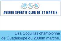 Athlétisme. Lisa Coquillas championne de Guadeloupe