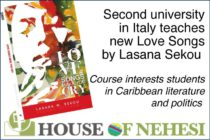 Literature. Second university in Italy teaches new Love Songs by Lasana Sekou