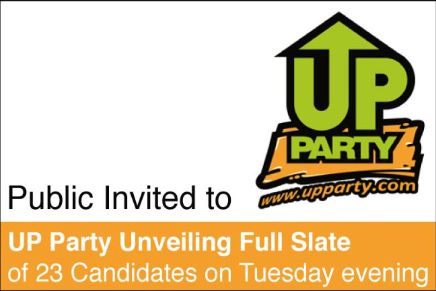 Sint Maarten. Public Invited to UP Party Unveiling Full Slate of 23 Candidates on Tuesday evening