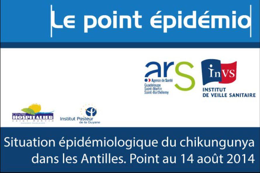 Chikungunya – Le Point épidémiologique dans les Antilles, bulletin du 28 juillet au 10 août
