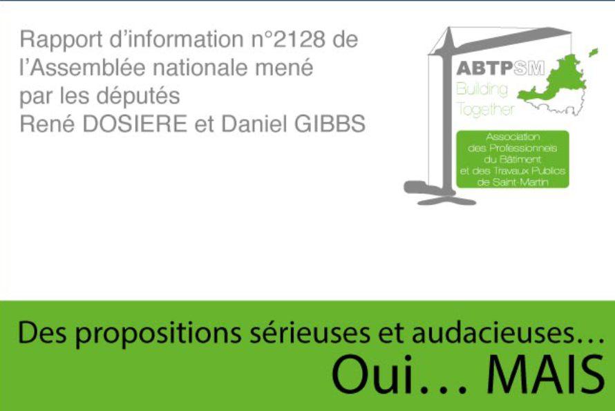Position de l'Association du BTP vis à vis du rapport d'information Dosière/Gibbs