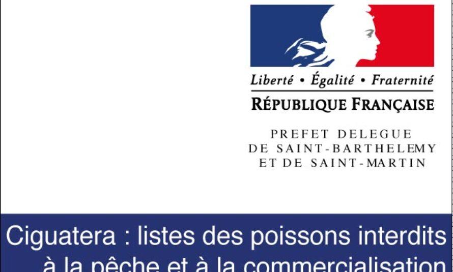Ciguatera : listes des poissons interdits à la pêche et à la commercialisation