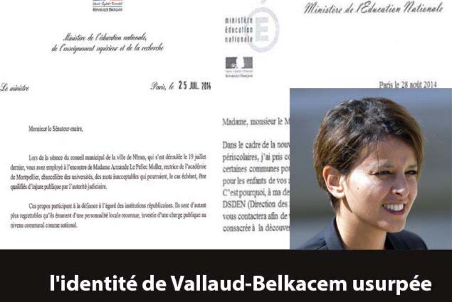 Circulaire incitant à organiser des cours d'arabe : l'identité de Vallaud-Belkacem usurpée