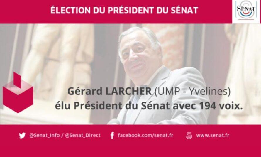 Élection du Président du Sénat : Gérard Larcher s'impose