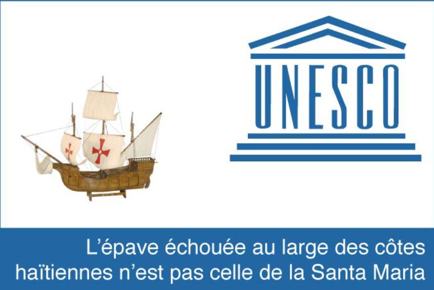 L'épave échouée au large des côtes haïtiennes n'est pas celle de la Santa Maria conclut une mission de l'UNESCO