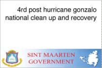 Sint Maarten – 4th post hurricane gonzalo national clean up and recovery