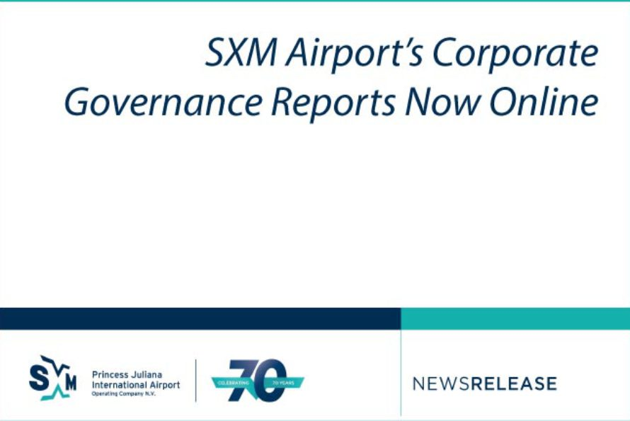 SXM Airport's Corporate Governance Reports Now Online