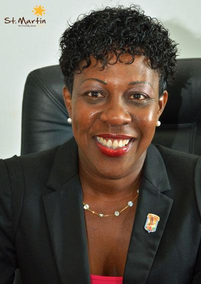 Madame Jeanne Rogers-Vanterpool, Présidente de l'Office de Tourisme de Saint-Martin