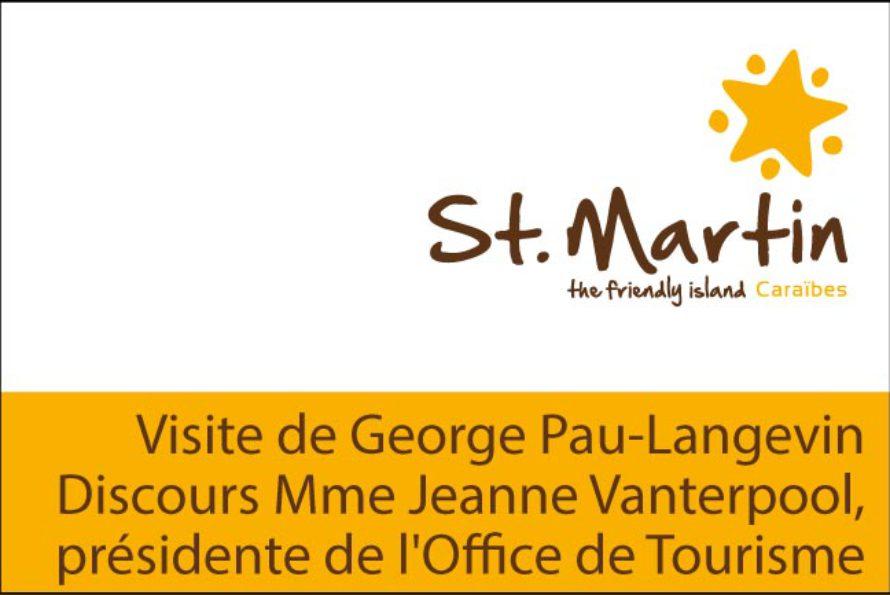 Visite de la Ministre George Pau-Langevin – Discours Mme Jeanne Vanterpool, présidente de l'Office de Tourisme