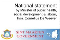 St Maarten – EBOLA : National statement by Minister of public health, social development & labour, hon. Cornelius De Weever