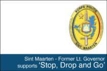 Sint Maarten – Former Lt. Governor supports 'Stop, Drop and Go'