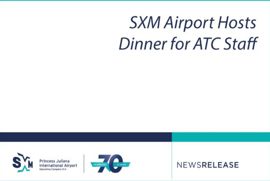 SXM Airport Hosts Dinner for ATC Staff