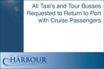 Sint Maarten – All Taxi's and Tour Busses Requested to Return to Port with Cruise Passengers