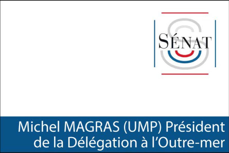 Sénat – Michel Magras Président du bureau de la Délégation à l'Outre-mer, Guillaume Arnell, Vice-Président