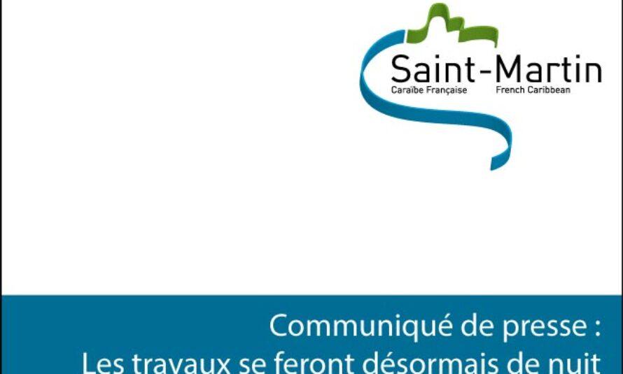 Saint-Martin – Les travaux se poursuivent de nuit