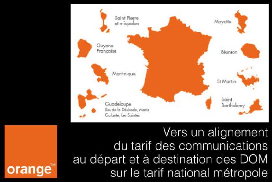 Orange – les communications vers et depuis les DOM vont s'aligner sur les tarifs de métropole