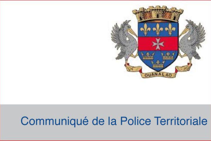 Saint Barthélemy : Communiqué de la Police Territoriale