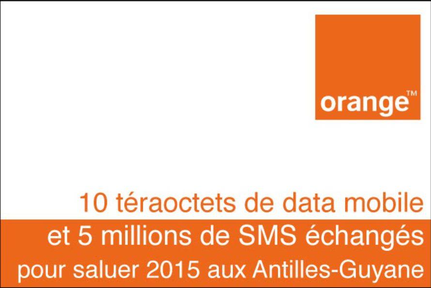 Antilles Guyane : 5 millions de SMS pour saluer 2015