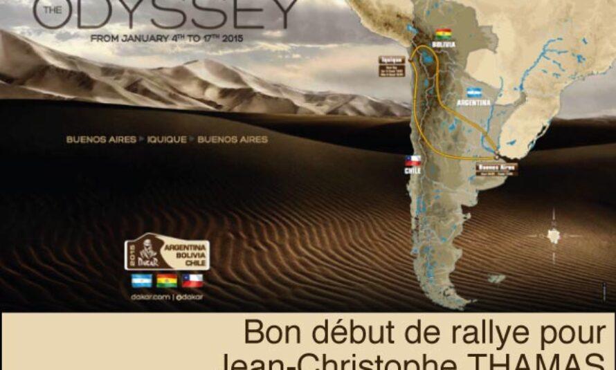 Dakar 2015 : 1ère étape pour Jean Christophe Thamas