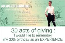 Event – 30 Acts of giving