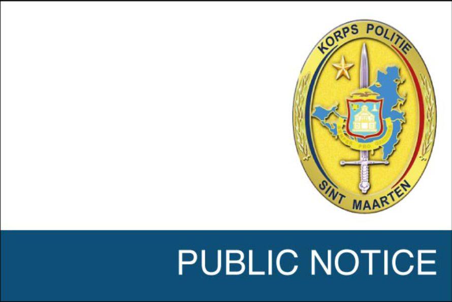Sint Maarten – PUBLIC NOTICE