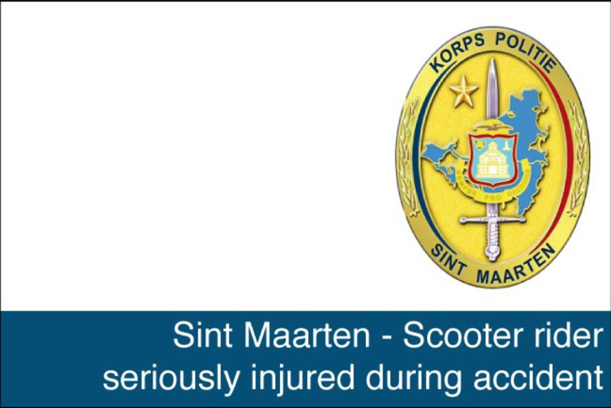 Sint Maarten – Scooter rider seriously injured during accident