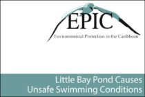 St. Maarten – Little Bay Pond Causes Unsafe Swimming Conditions