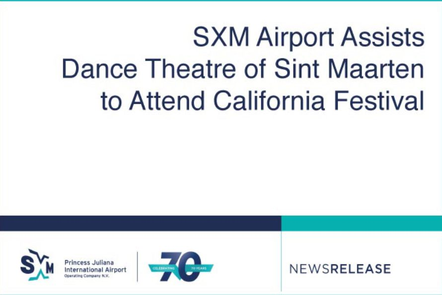SXM Airport Assists Dance Theatre of Sint Maarten to Attend California Festival