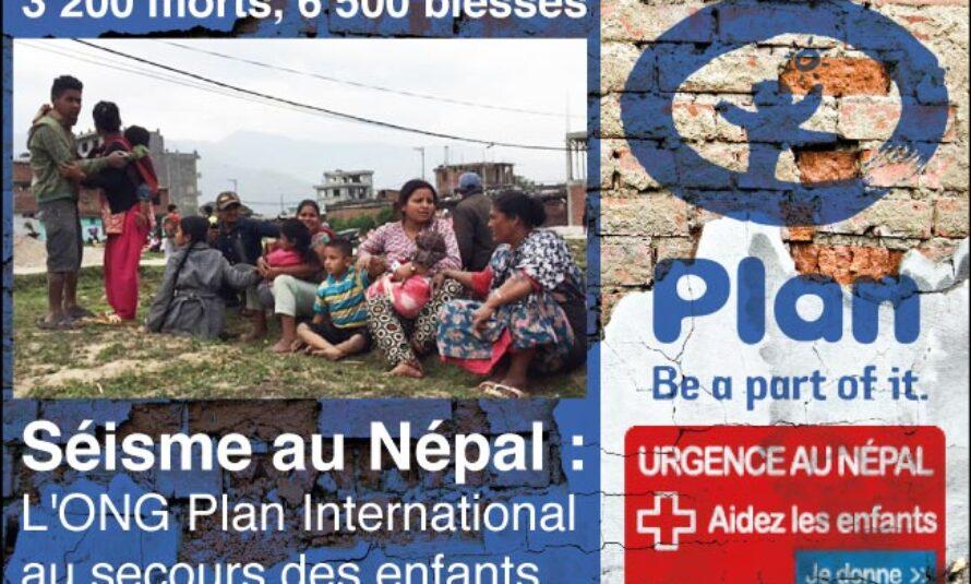 Séisme au Népal : L'ONG Plan International au secours des enfants