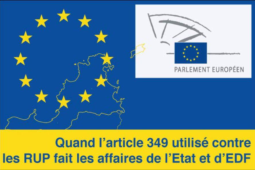 Younous Omarjee, député européen – Quand l'article 349 utilisé contre les RUP fait les affaires de l'Etat et d'EDF