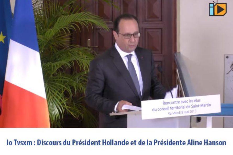 Io Tvsxm : Discours du Président Hollande et de la Présidente Aline Hanson