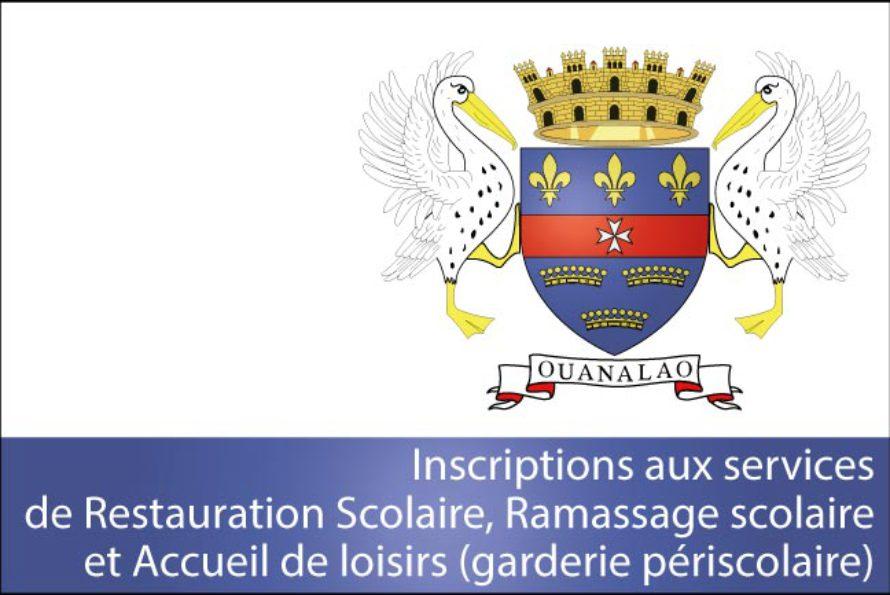 Collectivité de Saint-Barthélemy – Inscriptions aux services scolaires