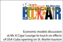 Economic models discussion at Mr. K Cigar Lounge to touch on effects of USA-Cuba opening on St. Martin tourism