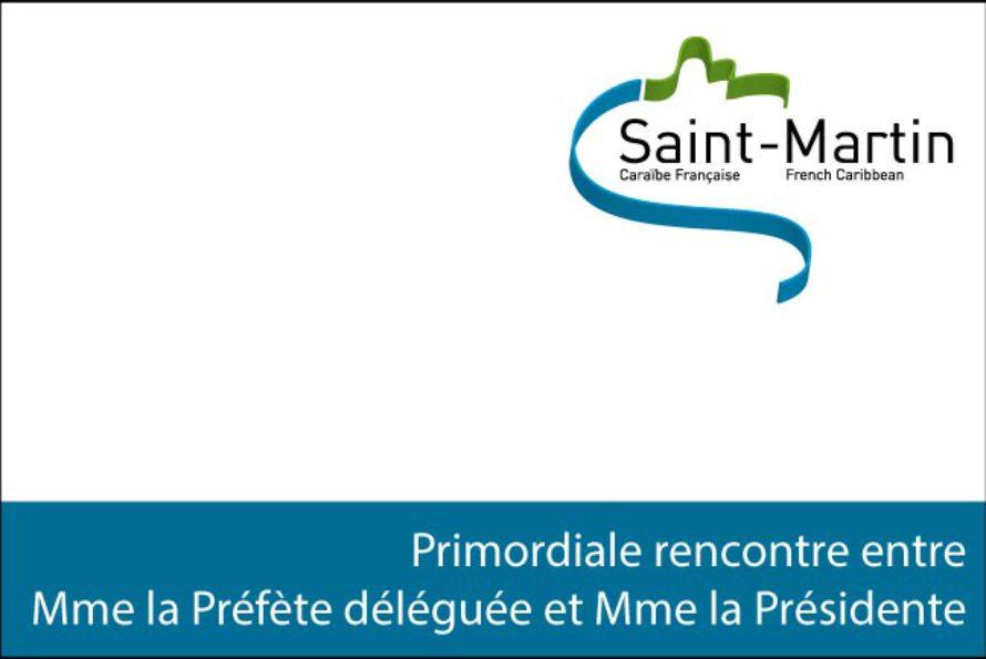 Saint-Martin – Primordiale rencontre entre Madame la Préfète déléguée et Madame la Présidente
