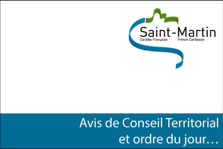 Saint-Martin – Oyé Oyé, avis de Conseil Territorial et ordre du jour …