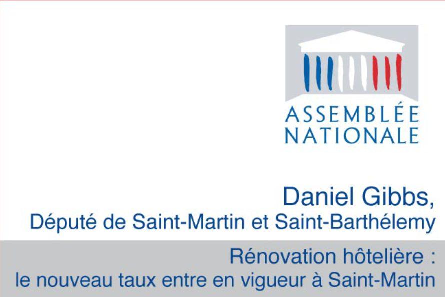 Rénovation hôtelière : le nouveau taux entre en vigueur à Saint-Martin
