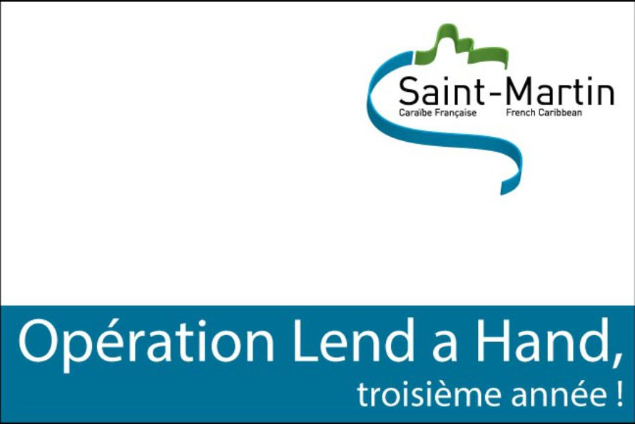 Collectivité de Saint-Martin : Opération Lend a Hand, troisième année !