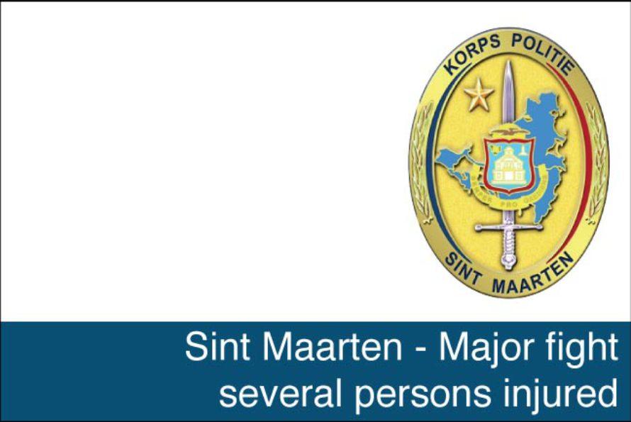 St. Maarten – Major fight several persons injured