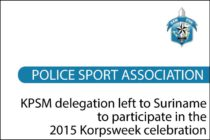 St. Maarten – KPSM delegation left to Suriname to participate in the 2015 Korpsweek celebration