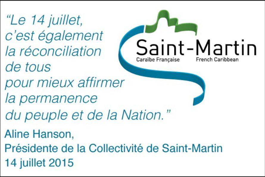 Saint-Martin – Discours de la Présidente Aline Hanson à l'occasion du 14 juillet