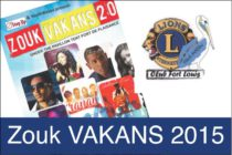 "Concert – Le Lions Club Fort Louis & Youth Waves proposent ""Zouk VAKANS 2015"""